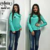 Женская кофта с воротником-хомутом, 3 цета. Но-5-0217, фото 3