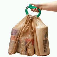 Ручка-переноска для облегчения переноса пакетов или сумок до 5кг пластик ЗЕЛЕНАЯ SKU0000618