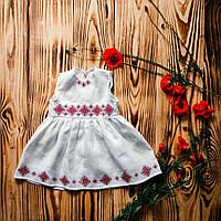 Платье с вышивкой для крещения ХП 09