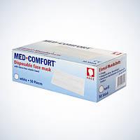 Маска  для лица MED COMFORT 2-слойная с ушными петлями (50 шт/уп), AMPri