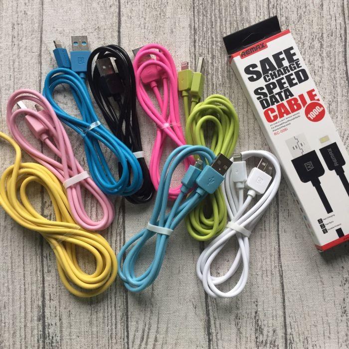 Цветные кабеля USB REMAX  для iPhone