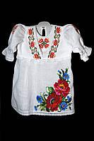 Платье с вышивкой крестильное 005