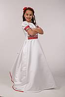 Красивое платье с вышивкой для первого причастия ПА 16