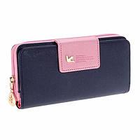 Женский кошелек,клатч Baellerry Summer Темно фиолетовый с розовым