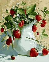 Картина для рисования Mariposa Кувшинчик с земляникой Худ Павлова Мария (MR-Q1461) 40 х 50 см