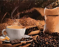 Раскраска по цифрам Mariposa Кофе с шоколадом (MR-Q1951) 40 х 50 см