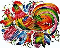 Раскраска по цифрам Турбо Радужный петух (VP619) 40 х 50 см