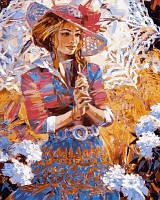 Раскраска по цифрам Турбо Девушка с кружевным зонтиком Худ Алексей Лашкевич (VP634) 40 х 50 см