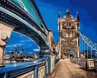 Раскраска по цифрам Турбо Лондонский мост (VP646) 40 х 50 см