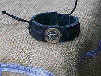 Знак зодиака кожаный браслет на руку КОЗЕРОГ, ручная работа, ювелирная бижутерия