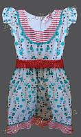 Платье девочка Летнее Grage бирюзовое в горошек (40684)