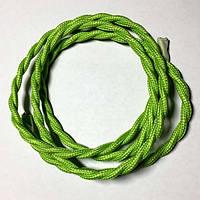 Провод в тканевой оплетке ретро плетёный (Factory) / Ярко - зеленый