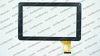 """Тачскрин (сенсорное стекло) DH-0901A1-FPC03-02, 9"""", внешний размер 231*140 мм, внутренний размер 197*110 мм, 50 pin, черный"""