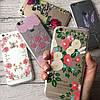 Силиконовый чехол на iPhone 7 цветочный принт