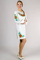 Платье вышиванка Калина (белое)