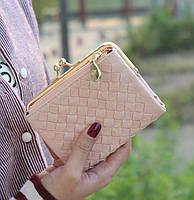 Женский кошелек DUDINI нежно розовый