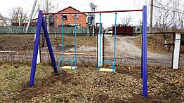 Качеля детская 2-местная игровая уличная