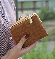 Женский кошелек DUDINI коричневый
