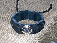 Мужской браслет из кожи знак зодиака РЫБЫ на руку, ручная работа, ювелирная бижутерия