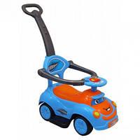 Машинка-каталка с толкателем Alexis-Babymix Q-63 (blue)