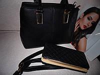 Черная большая сумка с ручками