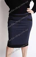 Женская юбка-карандаш синего цвета 41241