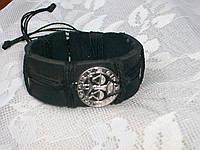 Кожаный браслет знак зодиака ВЕСЫ в подарок, ручная работа, ювелирная бижутерия