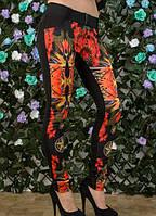 Женские лосины цветы  42 44, фото 1