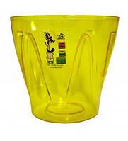 """Кашпо для орхидей """"Аркада"""" желтый высота 15см, диаметр 16.4см ТМ """"Эталон"""""""