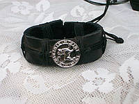 Кожаный браслет на руку знак зодиака ЛЕВ в подарок, ручная работа, ювелирная бижутерия