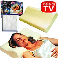 Ортопедическая подушка Memory Pillow с эффектом памяти, ортопедическая подушка с эффектом памяти под голову