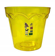 """Кашпо для орхидей """"Колизей"""" желтый высота 15см, диаметр 16см ТМ """"Эталон"""""""