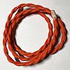 Провод в тканевой оплетке ретро плетёный (Factory) / Ярко - оранжевый