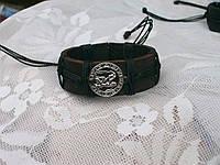 Кожаный браслет на руку знак зодиака ВОДОЛЕЙ в подарок, ручная работа, ювелирная бижутерия