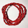Провод в тканевой оплетке ретро плетёный (Factory) / Ализориновый красный