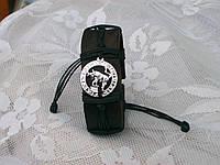 Кожаный браслет на руку знак зодиака КОЗЕРОГ в подарок, ручная работа, ювелирная бижутерия