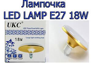 Лампочка LED LAMP E27 18W Плоские круглые 1201!Хит