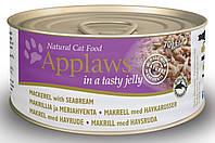 Applaws (Эпплоуз) Cat Tin Mackerel with Seabream in Jelly Кэт Скумбрия с Дорадо в желе корм для кошек 70 г
