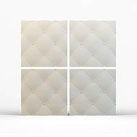 """Гипсовые  стеновые 3D панели """"Кожа"""" 500х500"""