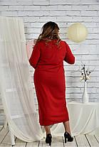 Женское платье из ангоры 0443 цвет красный размер 42-74 / батальное, фото 3