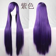 Парик искусственные волосы аниме темно-фиолетовый карнавальный косплей cosplay прямой ровный