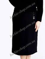 Делавая женская юбка черного цвета батал 41116
