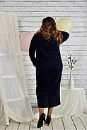 Женское платье из ангоры 0443 цвет синий размер 42-74 / батальное, фото 4