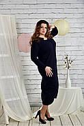 Женское платье из ангоры 0443 цвет синий размер 42-74 / батальное, фото 3