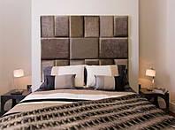 Мягкая плитка, мягкие стеновые панели в ткани, панели в кожезаменителе, плитка в ткани и коже мягкая на заказ, фото 1