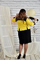 Женское платье для праздника 0442 цвет желтый размер 42-74 / батальное, фото 3