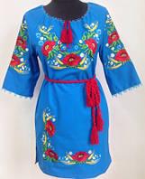 Женское вышитое платье  Ганночка для полных  размера  42,  44, 46, 48, 50, 52, 54, 56 из льна