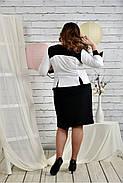 Женское платье для праздника 0442 цвет черно - белый размер 42-74 / батальное, фото 4