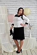 Женское платье для праздника 0442 цвет черно - белый размер 42-74 / батальное, фото 2