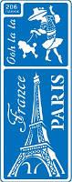Трафарет многоразовый Париж 206